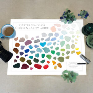 Carter Sea Glass Color & Rarity Guide laminated
